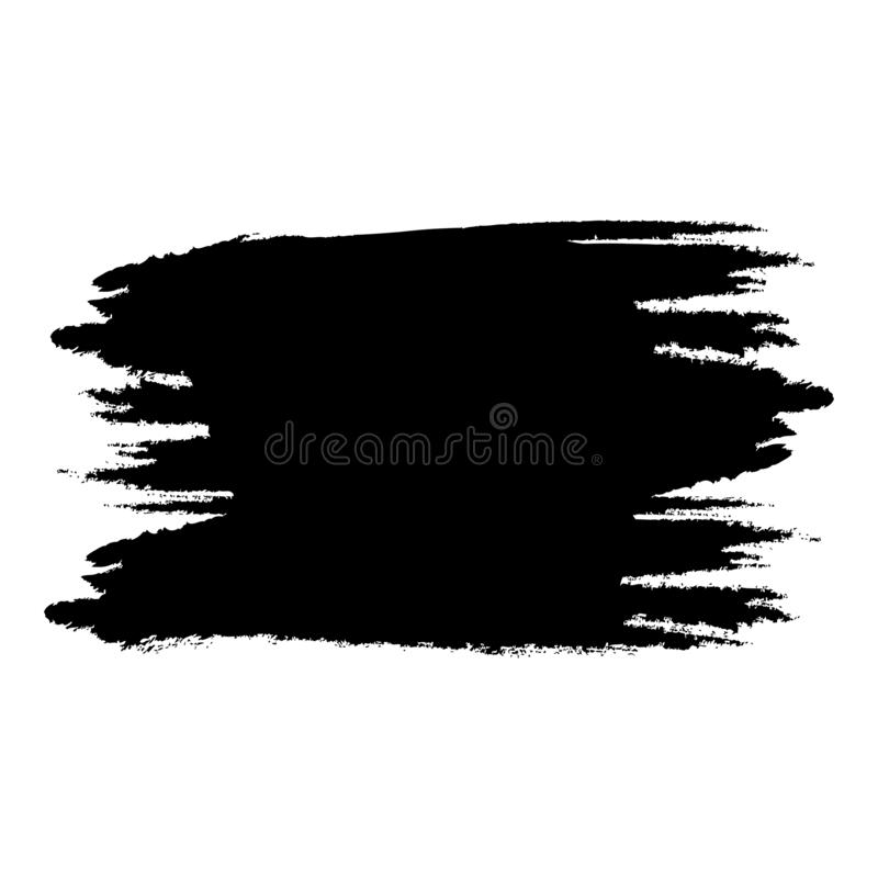Grunge background hand drawed brush Retro vintage abstract style Paint of ink icon black color vector illustration flat style royalty free illustration