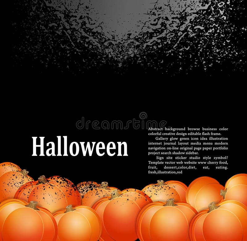 Grunge background for holiday Halloween royalty free illustration
