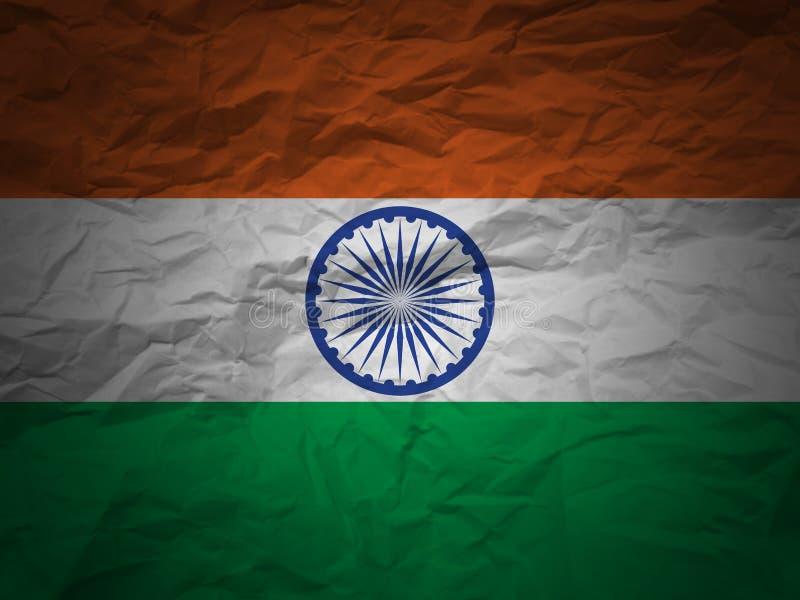 Grunge background India flag vector illustration