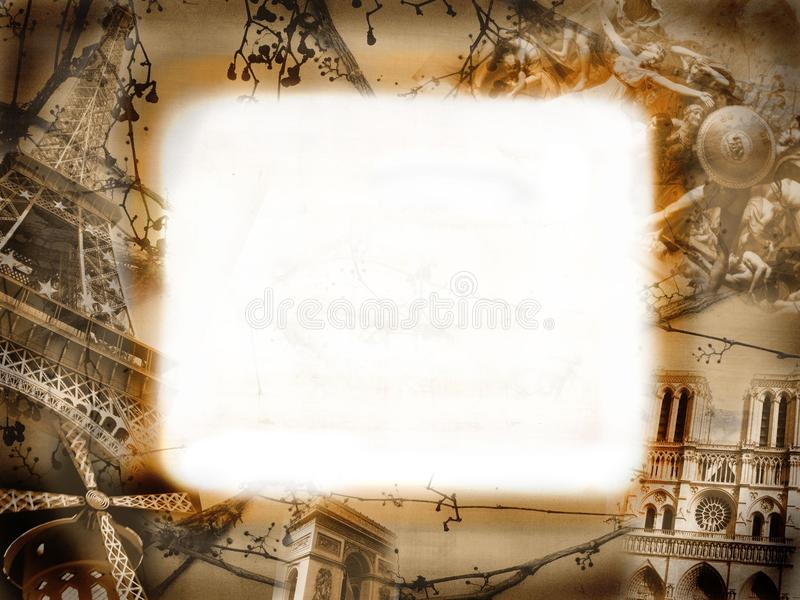 Grunge Background With Motives Of Paris Royalty Free Stock Image