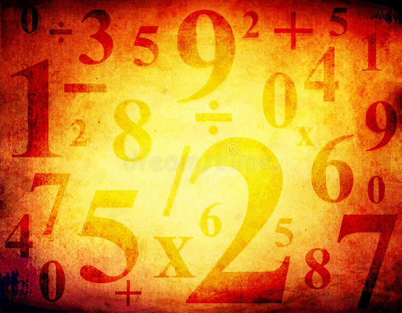 Download Grunge Background With Numbers Stock Illustration - Illustration: 16883776