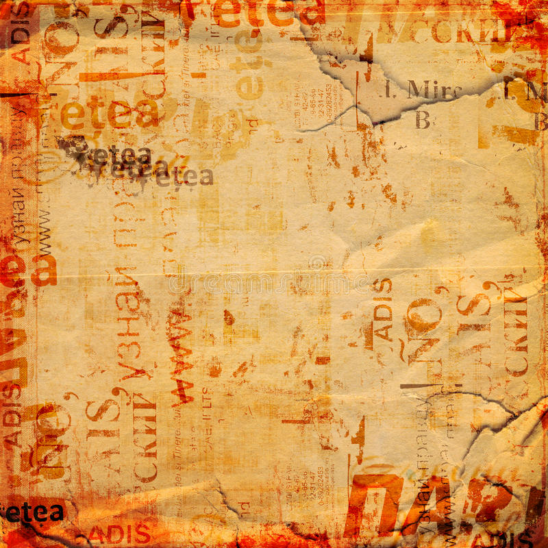 Grunge background with old torn posters. Grunge abstract background with old torn posters royalty free stock photos