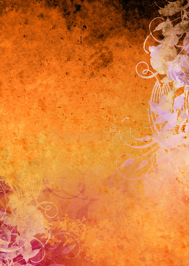 Grunge Background Orange vector illustration