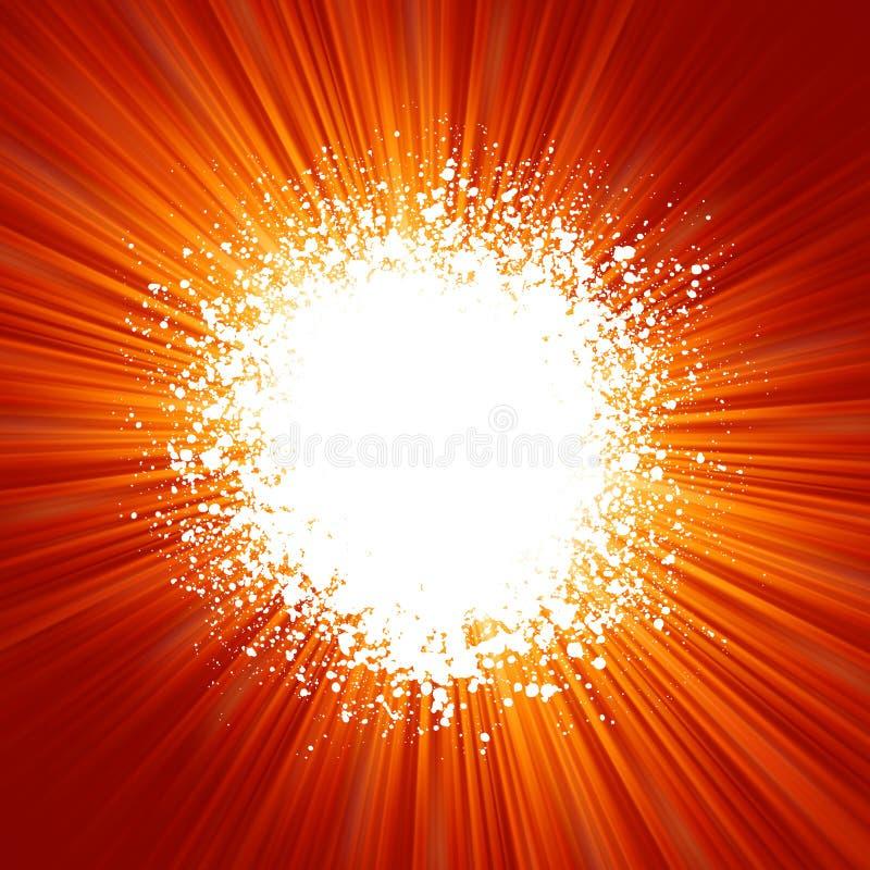 Grunge background with orange burst pattern. EPS 8 stock illustration