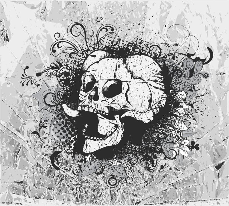 Download Grunge Background With Skull Stock Illustration - Image: 25268150