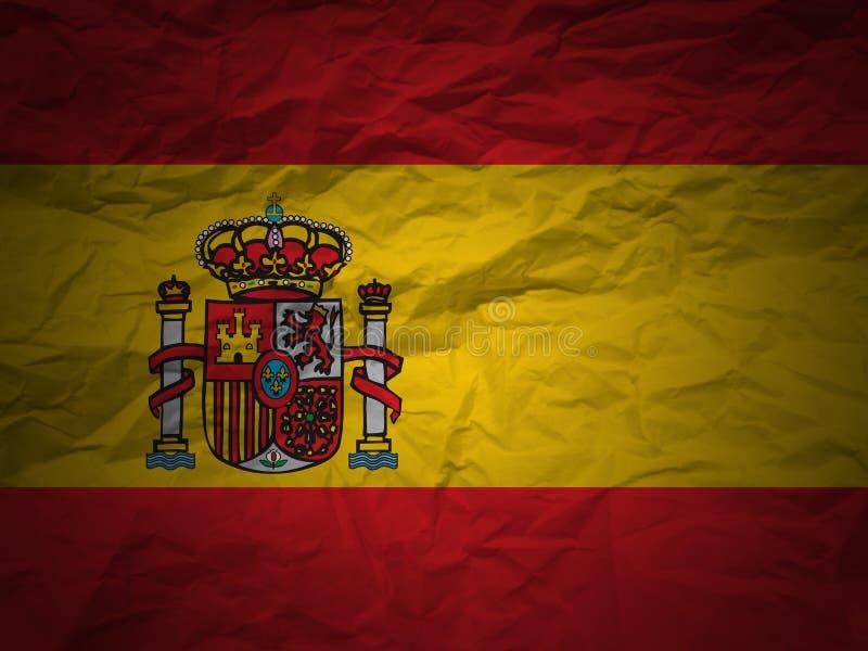 Grunge background Spain flag royalty free illustration