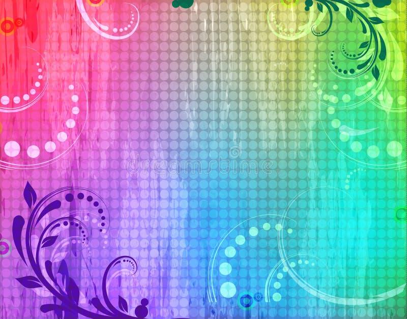Grunge background with swirls stock illustration