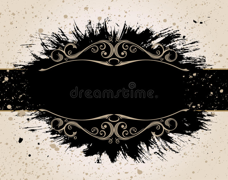 Download Grunge Background For Text Decor Rough Brush Stock Vector - Image: 25837495