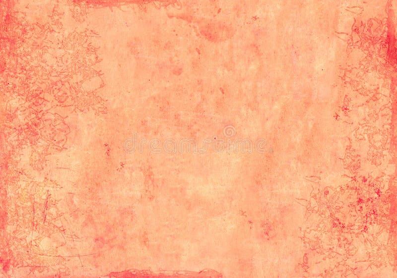 Paper texture of red color. Grunge background with texture of old soiled paper of red color vector illustration