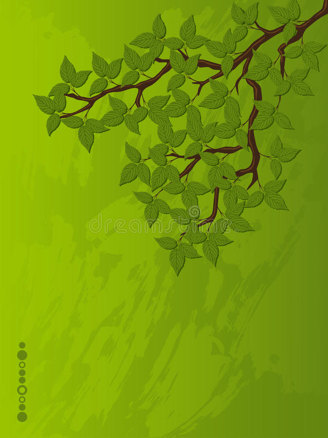 Download Grunge Background With A Tree Branch Stock Vector - Image: 17234553