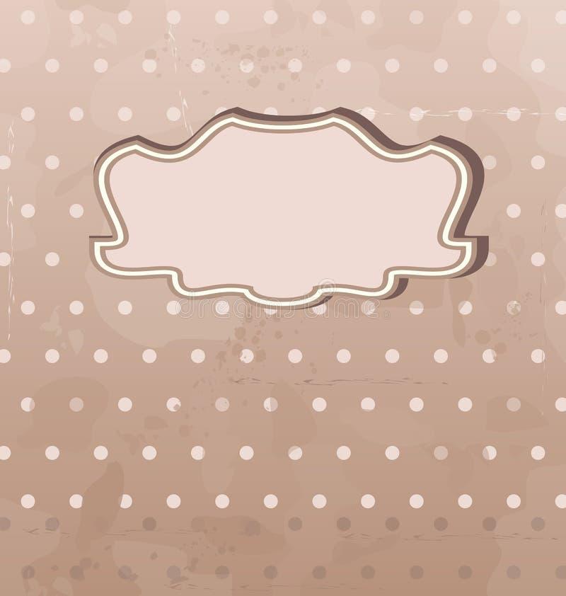 Grunge background with vintage label vector illustration