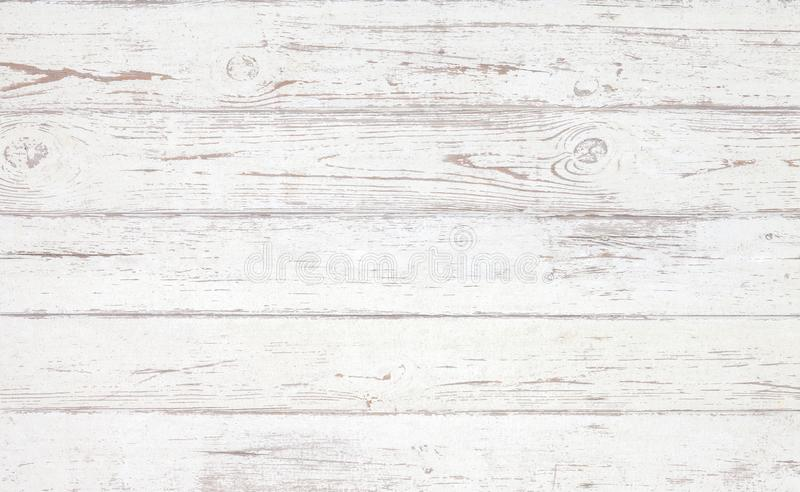 Grunge background. White wooden texture. Peeling paint on an old wooden floor royalty free stock photos