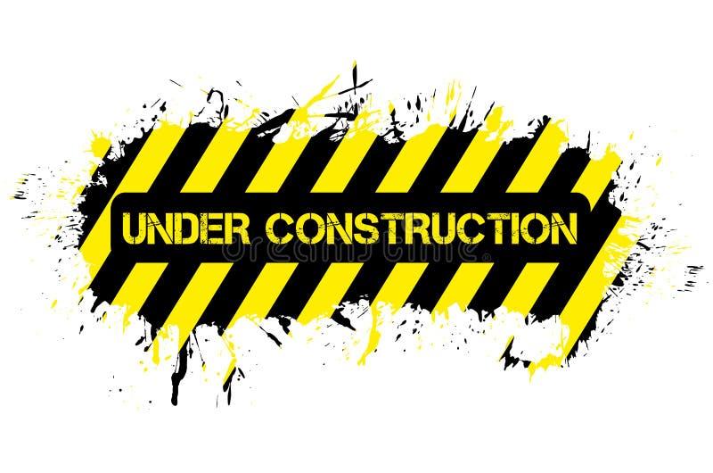 Grunge bajo construcción stock de ilustración