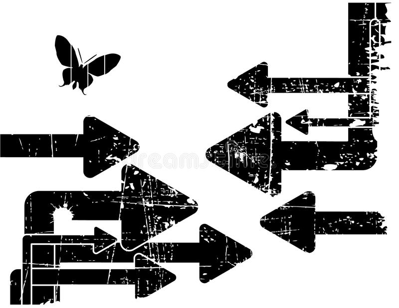 Grunge bakgrund royaltyfri illustrationer