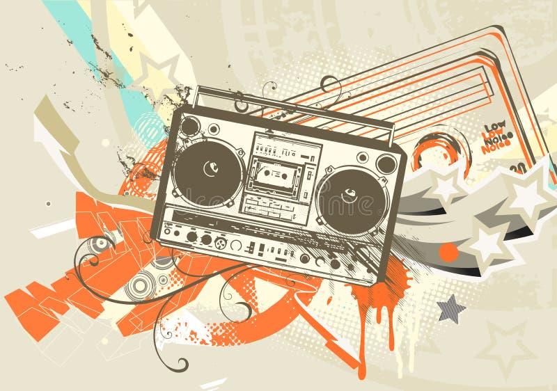 Grunge bakgrund stock illustrationer
