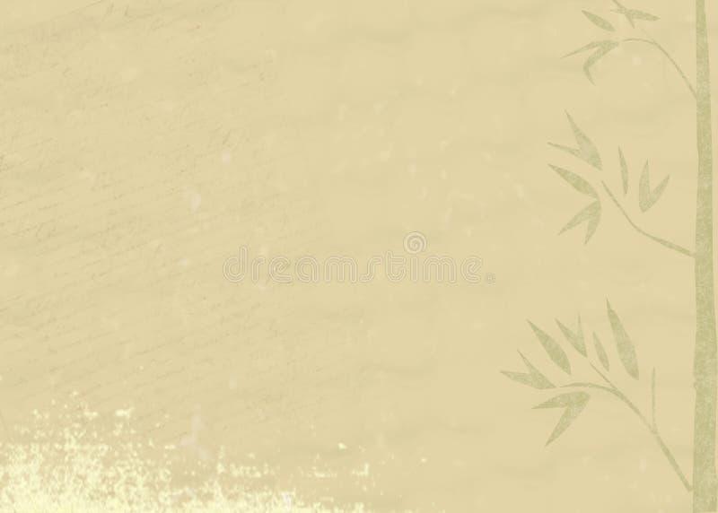 Grunge bamboo background royalty free illustration