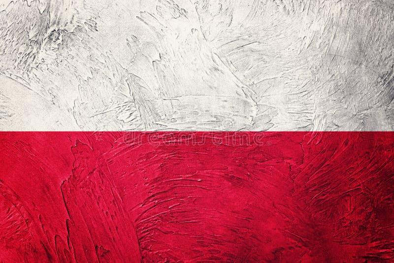 grunge bandery Poland Polska flaga z grunge teksturą obrazy royalty free