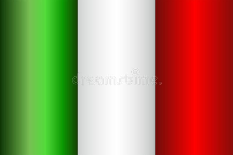 grunge bandery Włoch royalty ilustracja