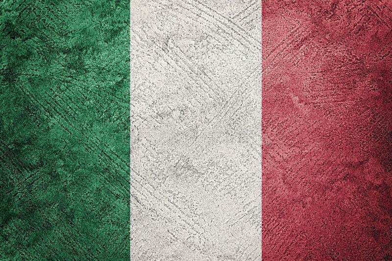 grunge bandery Włoch Włoszczyzny flaga z grunge teksturą obraz royalty free