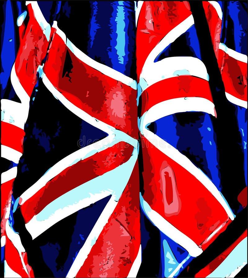 grunge bandery wielkiej brytanii royalty ilustracja