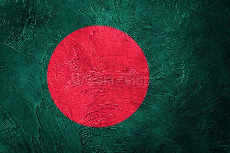 Grunge Bangladesh flag. Bangladesh flag with grunge texture. stock photos