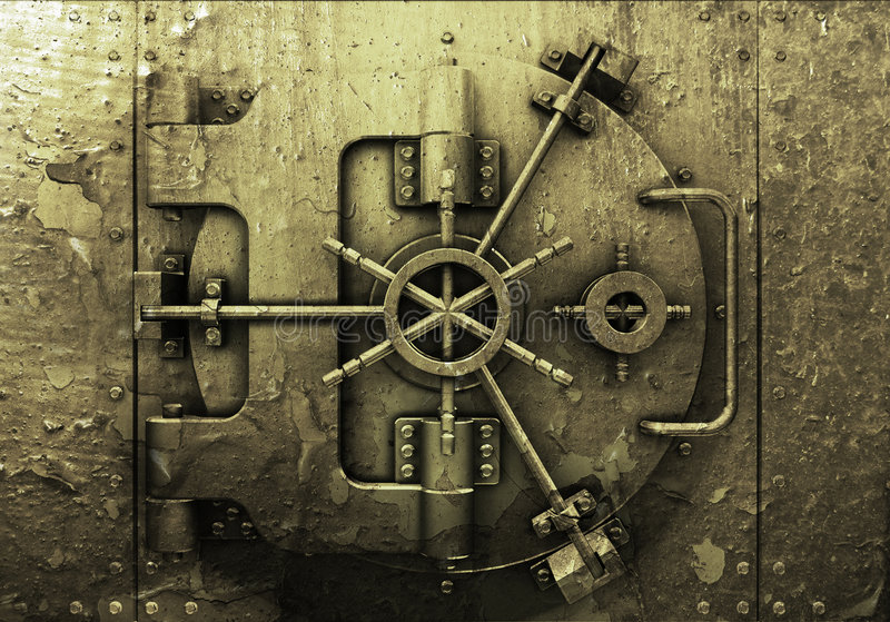 Grunge bank vault royalty free illustration