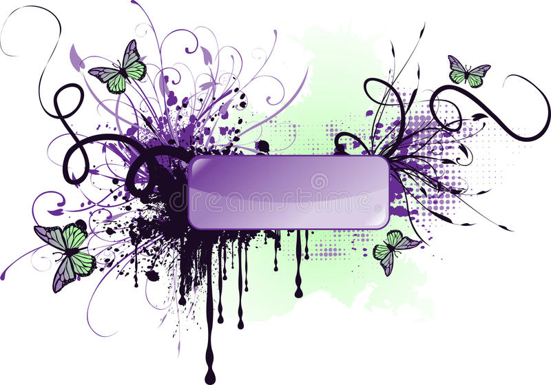 Download Grunge banner stock vector. Image of minimal, advertisement - 12944882