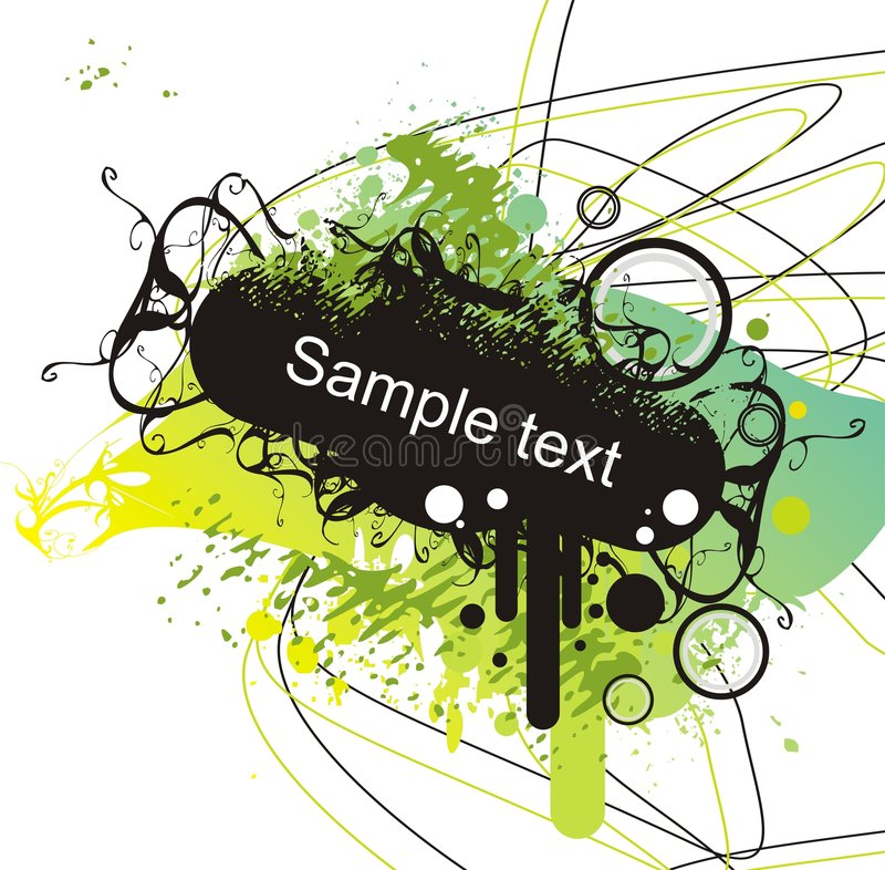 Download Grunge Banner On Abstract Back Stock Vector - Illustration: 2416735