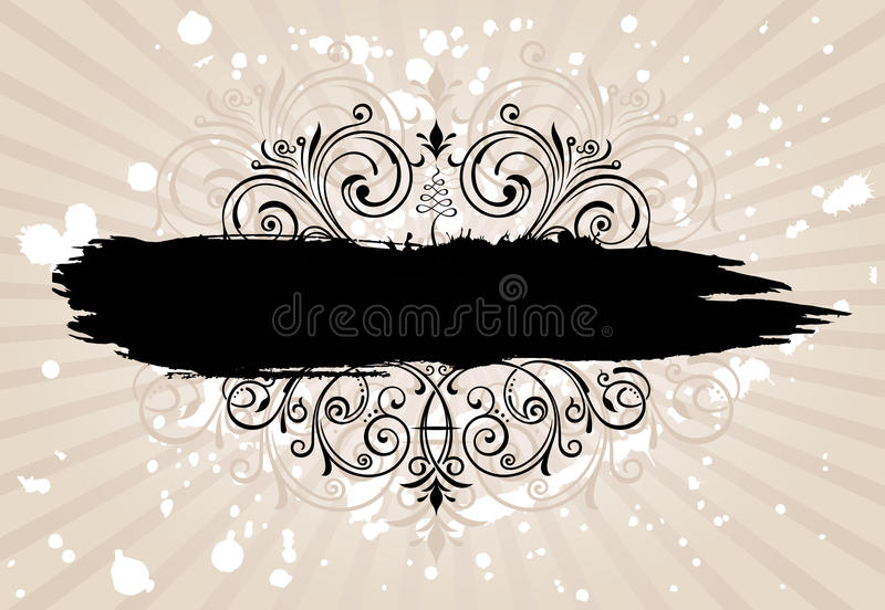 Download Grunge Banner Background. Vintage Patterned Border Stock Vector - Image: 25820210
