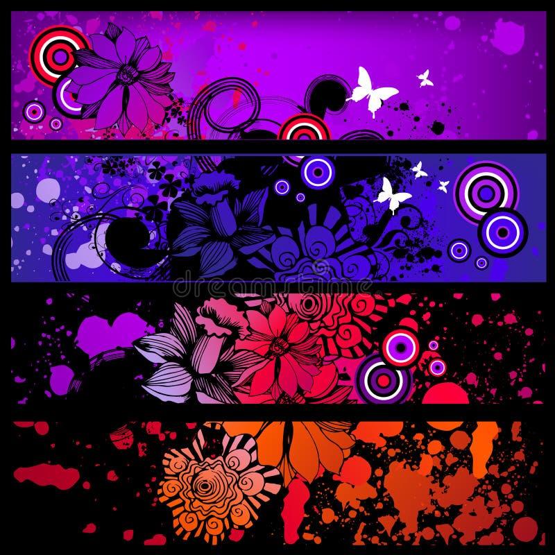 Download Grunge banner set stock illustration. Illustration of collection - 12356703