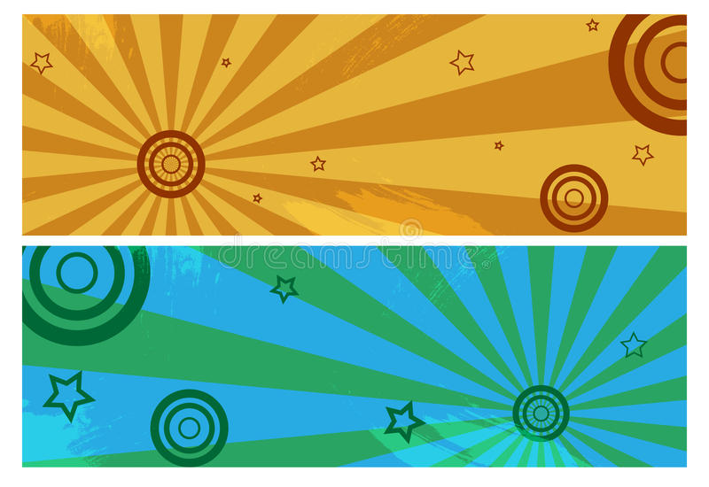 Grunge banners royalty free stock images