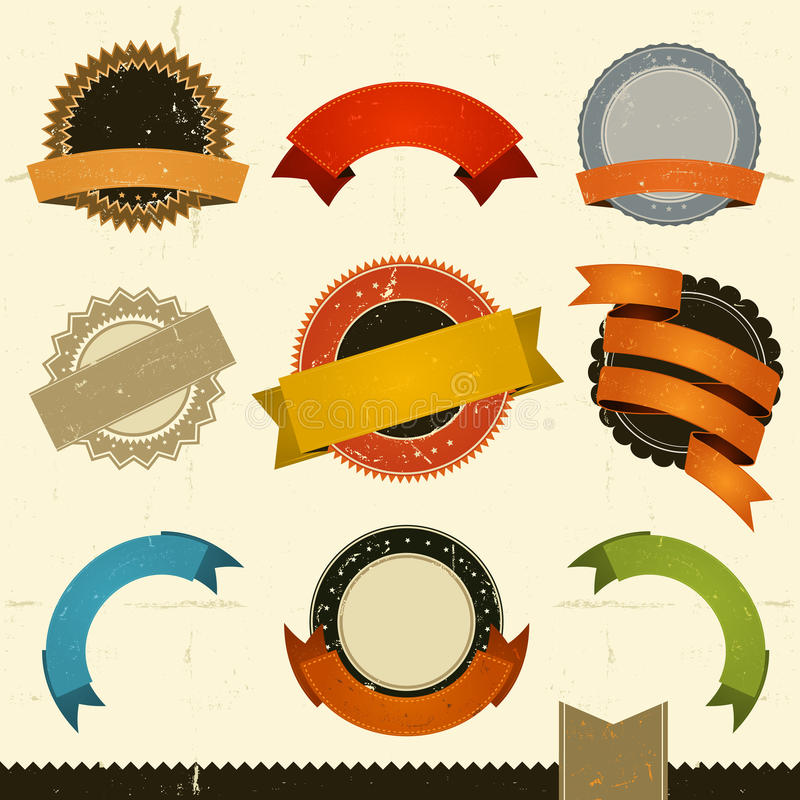 Download Grunge Banners, Awards And Ribbons Stock Vector - Image: 30992393