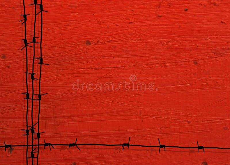 Grunge barbed wire frame royalty free illustration