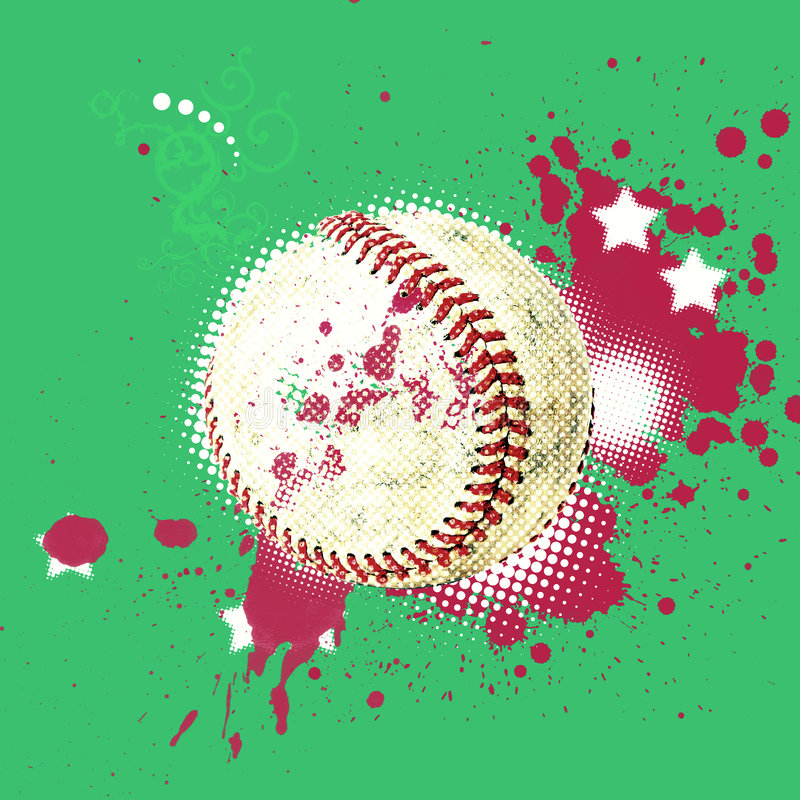 Grunge baseball stock illustration