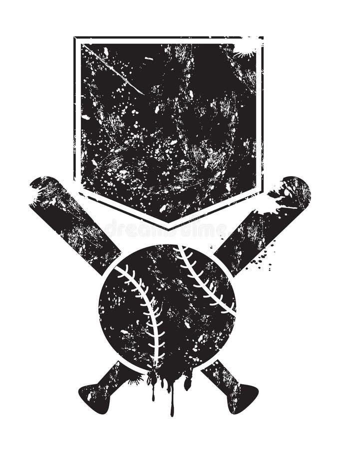 Grunge baseball background stock illustration