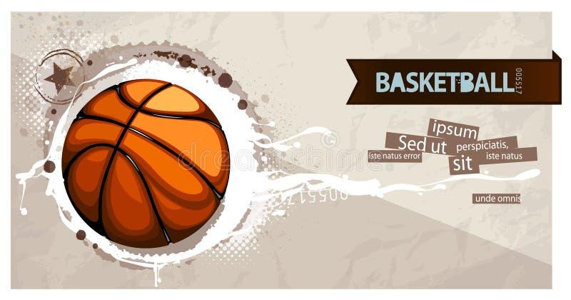 Grunge basketball vector illustration