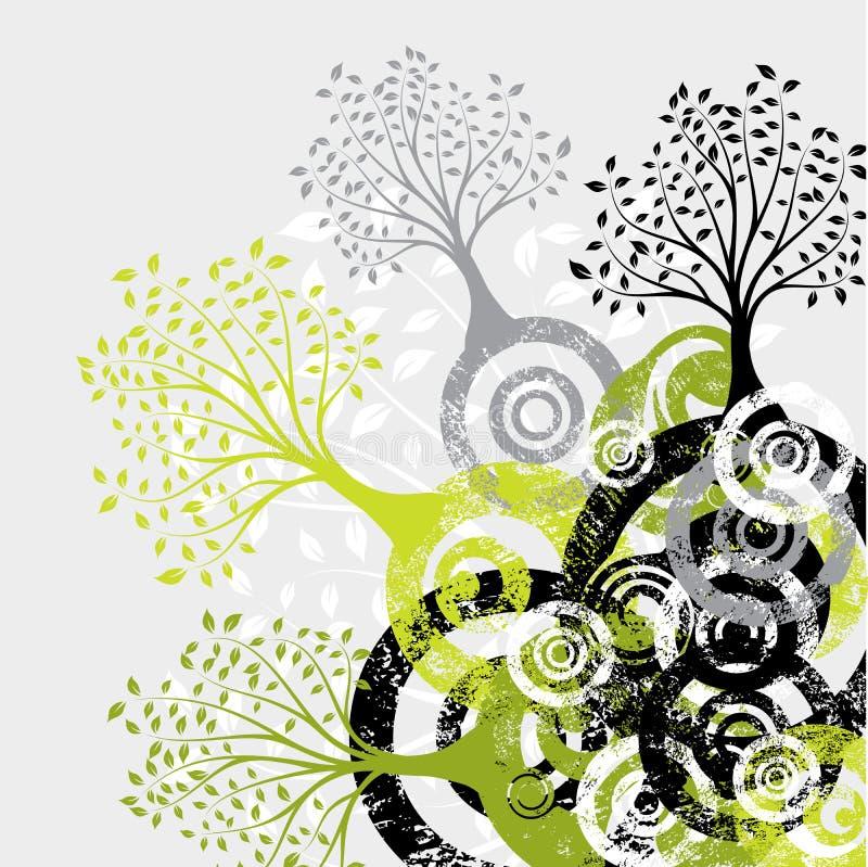 Grunge Baumhintergrund, Vektor vektor abbildung