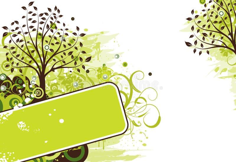 Grunge Baumhintergrund, Vektor stock abbildung