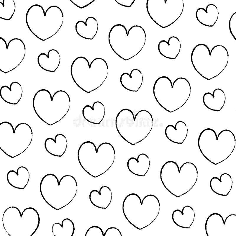 Grunge beauty heart romance symbol background. Vector illustration royalty free illustration