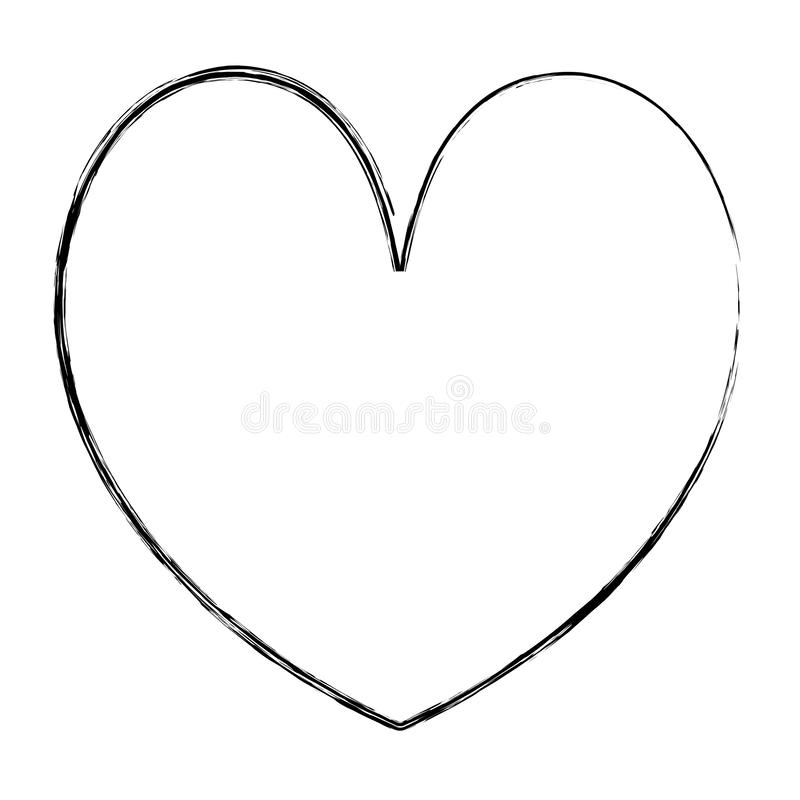 Grunge beauty heart romance symbol style. Vector illustration royalty free illustration