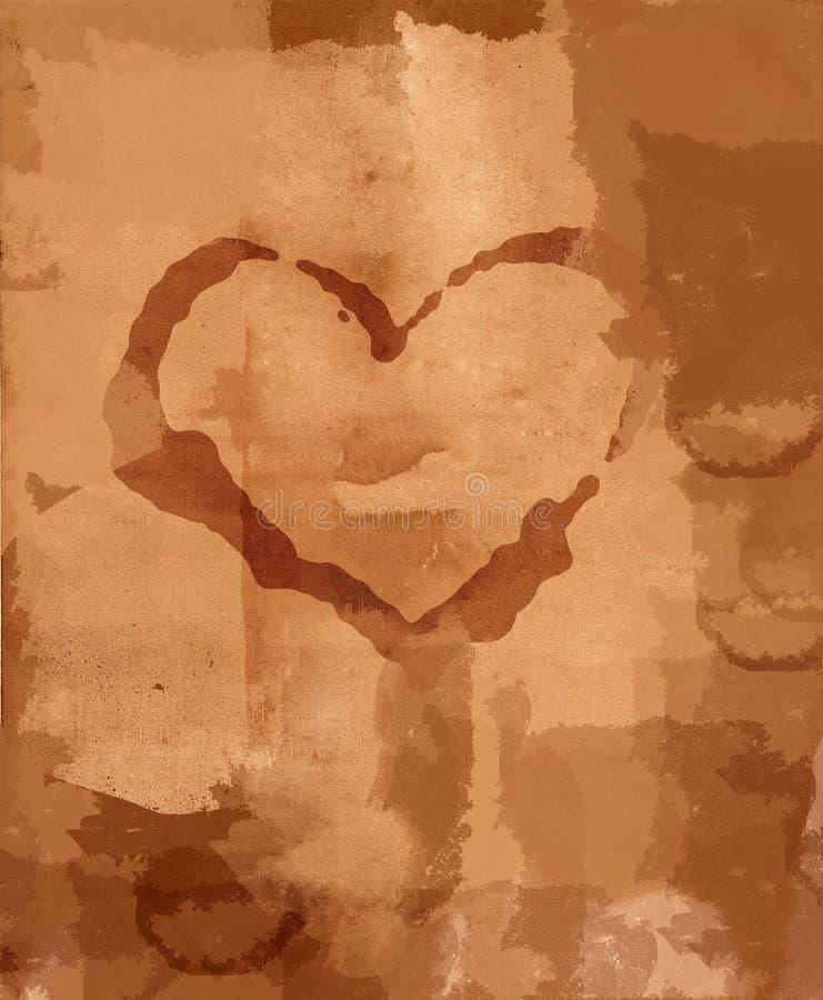 Grunge befleckte Liebesbrief vektor abbildung