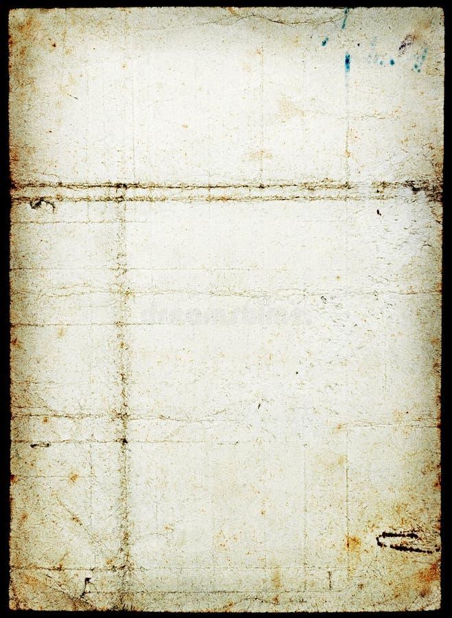 Grunge befleckte Papierseite lizenzfreie stockfotografie