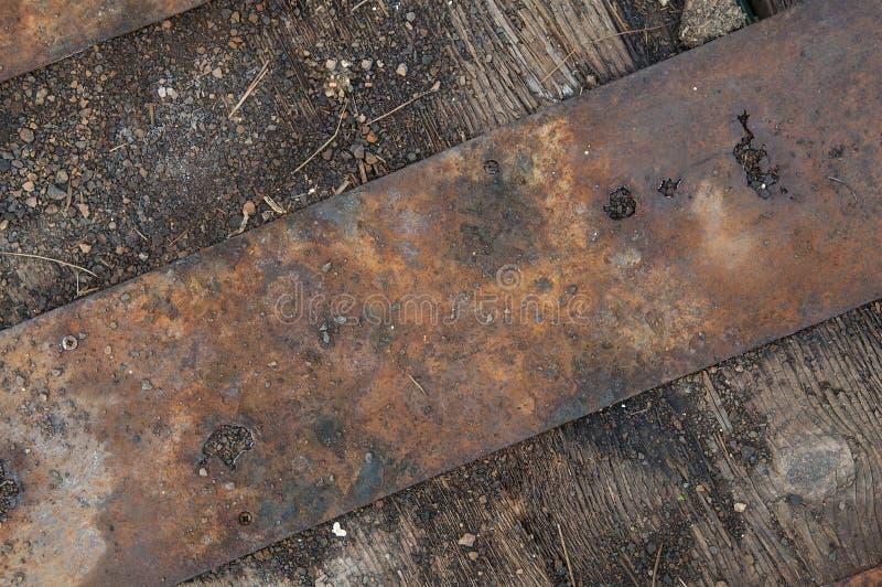 Grunge belägger med metall, och trä texturerar fotografering för bildbyråer