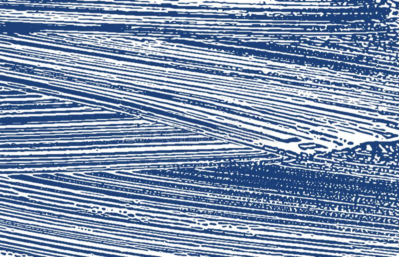 Grunge Beschaffenheit Raue Spur des Bedrängnisindigos Außergewöhnlicher Hintergrund Schmutzige Schmutzbeschaffenheit der Geräusch lizenzfreie abbildung