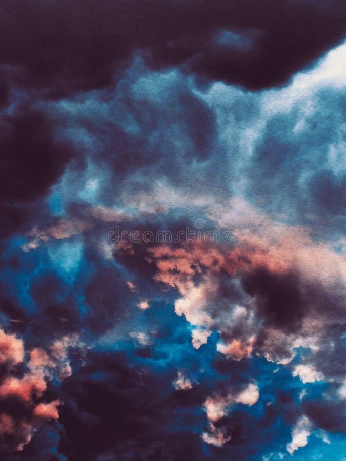 Grunge Bewolkte Achtergrond royalty-vrije illustratie