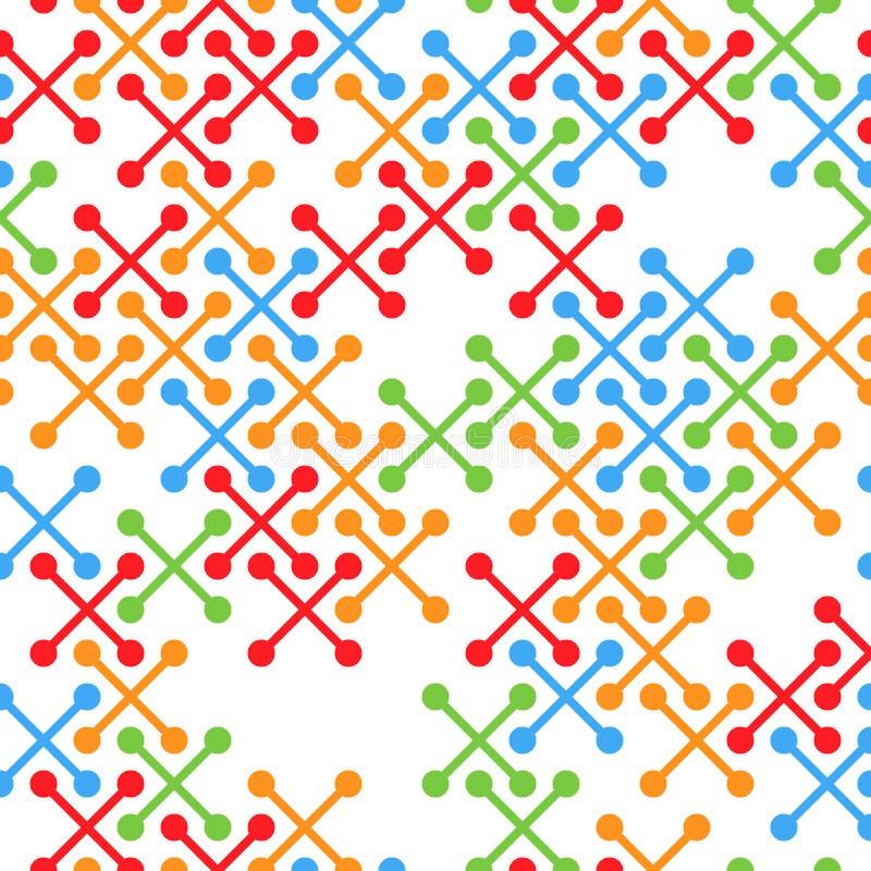 Grunge Bezszwowa kratownica abstrakta schematu Retro tekstura z Porysowanymi krzyżami royalty ilustracja