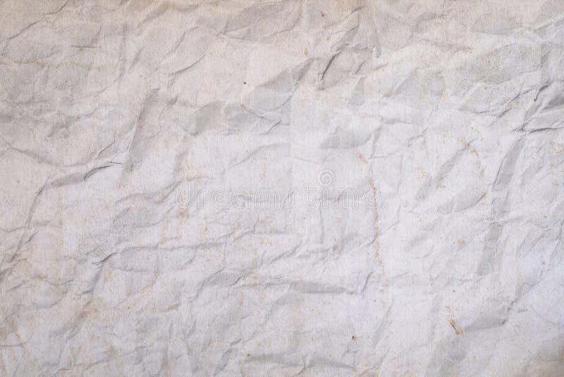 Grunge biała zmięta papierowa tekstura zdjęcia stock