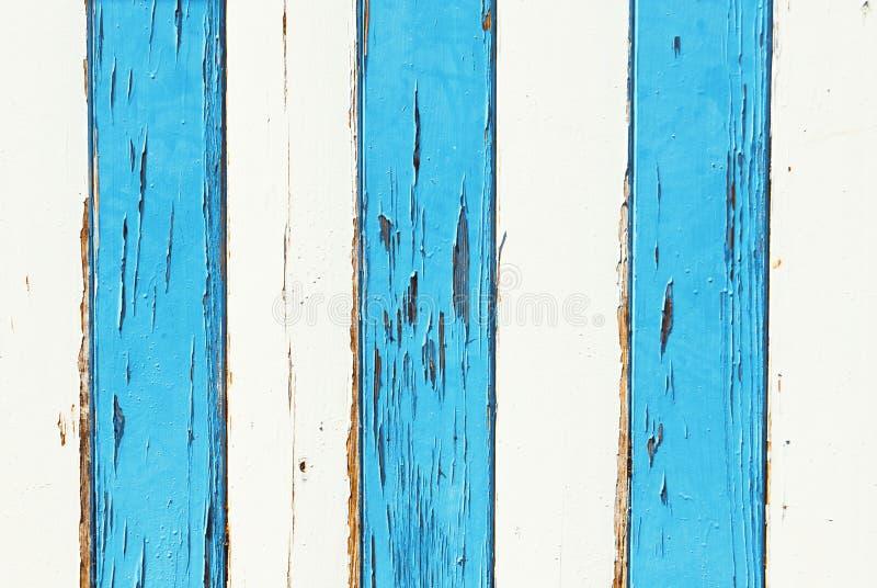 Grunge biały i błękitny drewno obraz royalty free