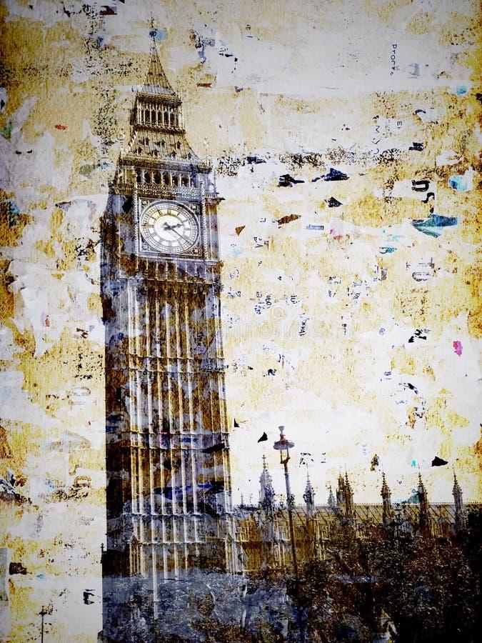 Grunge Big Ben tower