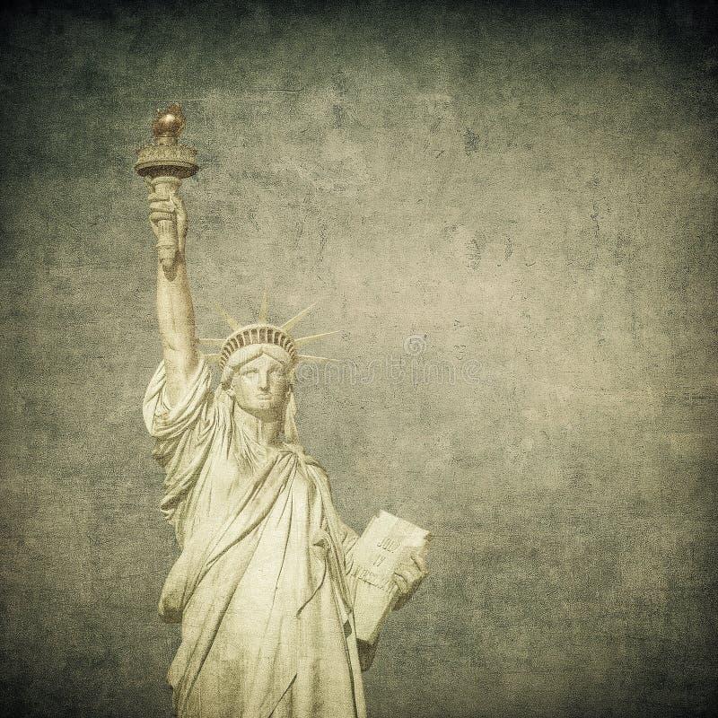 Grunge bild av frihetstatyn royaltyfria foton
